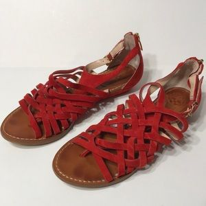 Vince Camuto Red Sandals Leather 5M/35
